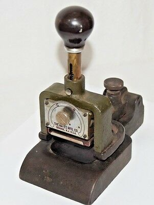 Antique Military Bates Manufacturing Company 4 Wheel Numbering Machine