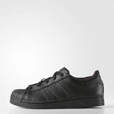 New adidas Originals Superstar Shoes D70185 Kids' Black Sneakers