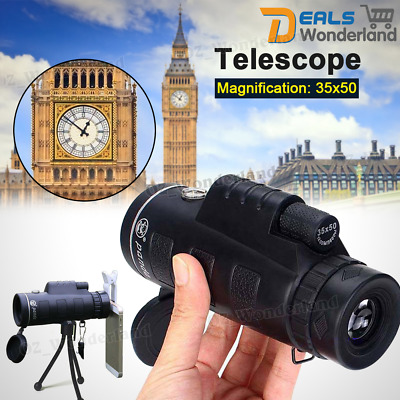 35X50 HD Travel Zoom Green Night Vision Lens Armoring Monoculars Telescope