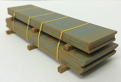 S Scale JWD PREMIUM PRODUCTS #99531 Plate Steel Load Yellow Strap - Handcrafted
