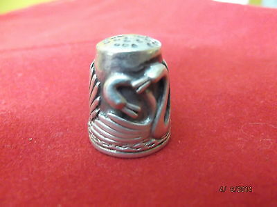 Stunning ,unique  Sterling Silver 925 Thimble , 12.6 Gr