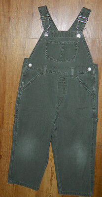 Infants Boys Old Navy Brand Green Khaki Overalls size 4T / 24x14