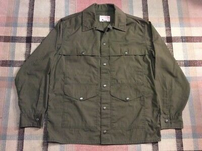 #(2) Filson Summer Tin Cloth Cruiser Jacket Us Forest Service L Made In Usa!!!