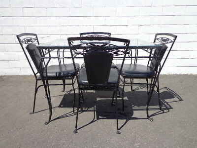 5PC Patio Set Salterini Table Chairs Outdoor Pool furniture Seating Lounge MCM