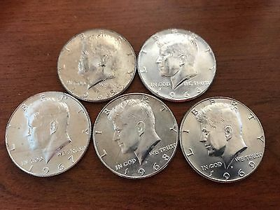 One 1966-1969 Uncirculated 40% Silver Kennedy Half-Dollar. + coins only $4.29.