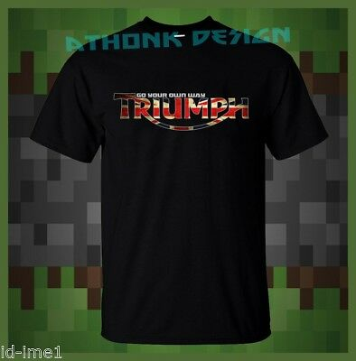 344739cd6a New Triumph Motorcycles Modern Logo T-Shirt Triumph Fan Tee T-Shirt