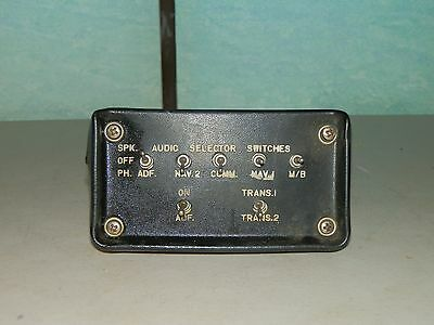 Vintage Aircraft Audio Selector Panel