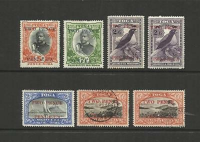 Tonga ~ 1923-24 King George Ii Surcharges  (Part Set)