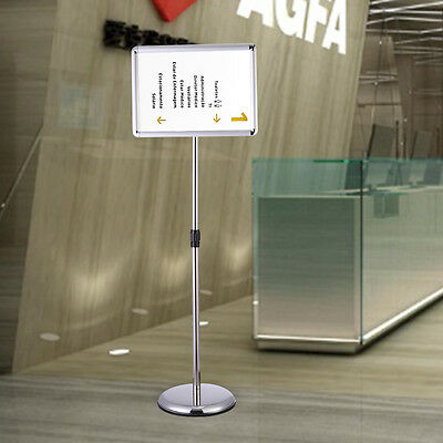 A3 Display Vertical/horizontal View Adjustable Pedestal Sign Holder Stand Silver