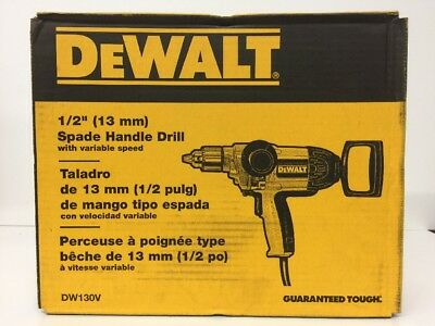 "(New) DEWALT DW130V ELECTRIC HEAVY DUTY 1/2"" 9 AMP T-HANDLE REVERSIBLE DRILL"