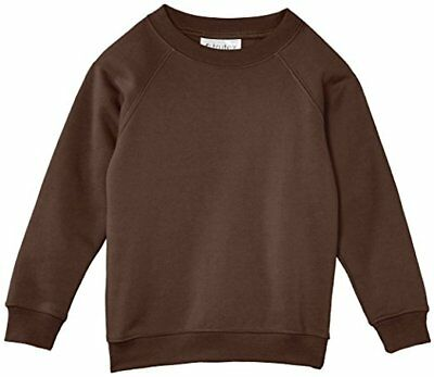 5 Pack of Child's Crew Neck Sweat-shirt Jumper Brown Sizes 2 & 3