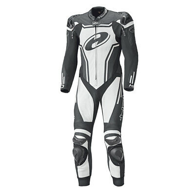 Held Rush Black / White Motorcycle Standard One Piece Leather Suit All Sizes