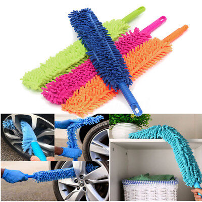 FLEXIBLE 2 in 1 Mircofibre Chenille Alloy Wheel Cleaner Car cleaning Wash Brush