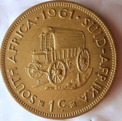 1961 SOUTH AFRICA CENT - Great Collectible Coin - South Africa Bin #A