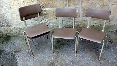 pel forme stacking chairs children industrial retro 1970,s