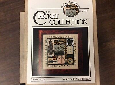 """CROSS STITCH   GRAPH """"  MENSWEAR """"  from THE CRICKET COLLECTION"""