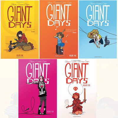 Giant Days Volume 1-5 Collection 5 Books Set By John Allison Children Books Pack