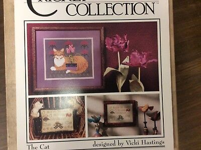 """CROSS STITCH   GRAPH """" THE CAT"""" from THE CRICKET COLLECTION"""