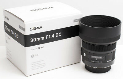 NEW Sigma 30mm F1.4 DC HSM (30 mm F/1.4 DC HSM) Fixed Zoom Lens for Canon*Offer