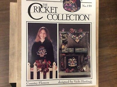 """CROSS STITCH   GRAPH """"  COUNTRY FLOWERS""""  from THE CRICKET COLLECTION"""