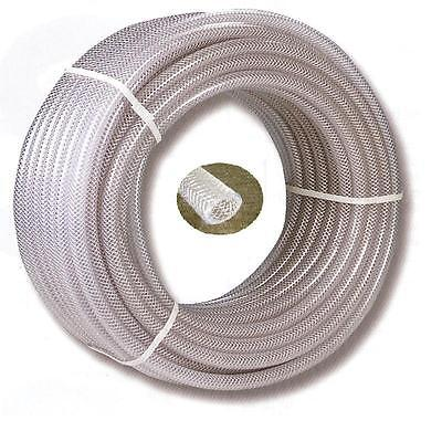 "PVC Braided Airline/Water Hose 5/8"" I/D X 10mtrs Clear"