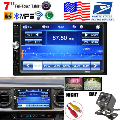 "7"" 1080P 2DIN Car FM/MP5 Player In Dash Stereo Radio FM Bluetooth USB/AUX Camera"