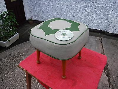 Vintage  Retro Sherbourne Pouffe.   Free  Delivery.