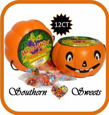 Halloween Pumpkin Heads Pail 12Ct Filled With Halloween Lollies Inc In Pumpkins