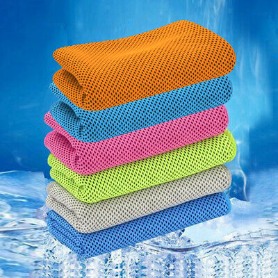 Ice Cold Gym Towels Instant Cooling Towel Absorbent Golf Outdoor Sport