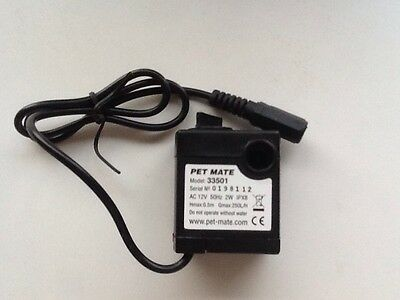 PET MATE REPLACEMENT 12v PUMP FOR PET DRINKING FOUNTAIN 33501