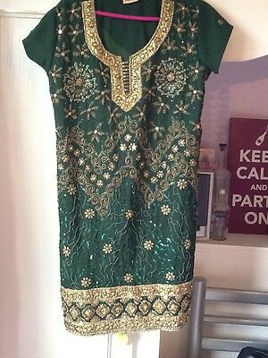 New Green Ladies Women Salwar Kameez Patala Style Indian Pakistani Outfit Suit