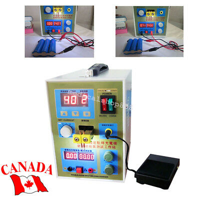 LED Dual Pulse Spot Welder Welding Battery Charger 800A Micro-Computer【CA STOCK】