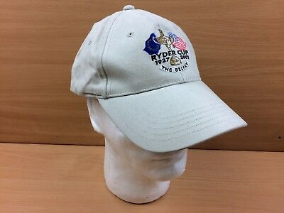 Official Ryder Cup Merchandise 2001 The Belfry Baseball Cap Hat Cream EX CON