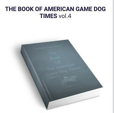 American Pitbull Terrier Dog Book AGDT Series Volume 4 signed by Editor FB