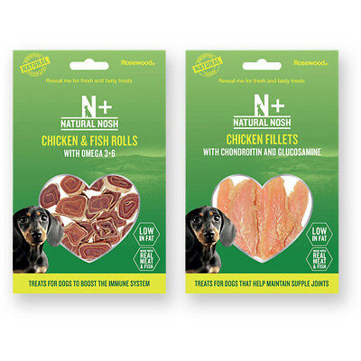 Natural Nosh Chicken Spinach Fish Sweet Potato Fillets Omega 3+ Dog Treats 80g