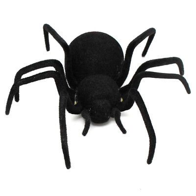 RC Remote Control Spider Toy Halloween Giant Spider Black 30 * 30 * 8.5cm E6R1