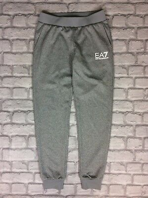 Emporio Armani Ea7 Uk S Grey Ladies Cuffed Joggers Jogging Bottoms Sweatpants