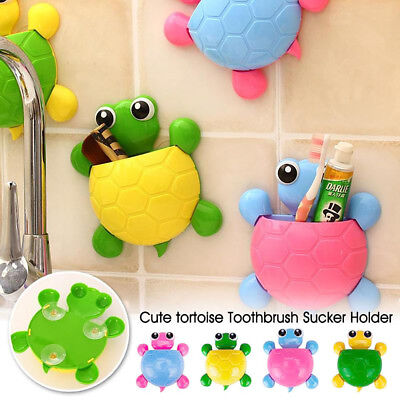 Tooth brush Hold Wall Mount Suction Cup Toothpaste Home Bathroom Storage Turtle