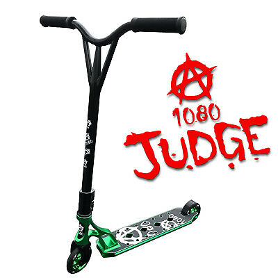 1080 Judge Stunt Scooter For Kids With Alloy Custom Deck - Anodised Green
