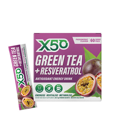 X50 Green Tea Passionfruit X 50 Detox Fat Burner Weight Loss Free Shipping