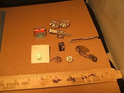 1980's Bell South Southern Bell lineman's pins tie tacs and stuff telephone co