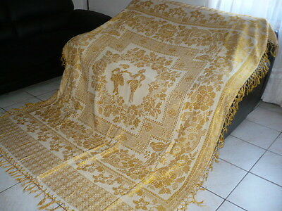 Antique Golden Baroque style BED COVER