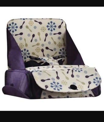 Munchkin Children's Portable Travel Kids Booster Seat and Travel Bag - Purple