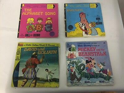 "Lot of 4 Children's Books with singalong 7"" Records - Lot 1/4"