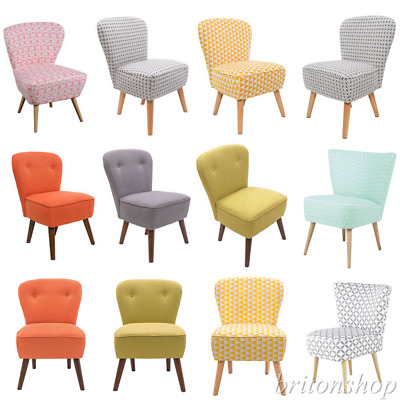 Bedroom Accent Chair Occasional Upholstered Lounge Retro Style Home Furniture UK