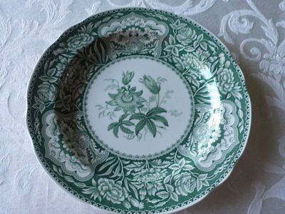 Spode Green  Plate Archive Collection Georgian Series Floral Made In England