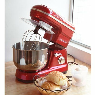 5L Electric Food Stand Mixer Food Guard 1200W Dough Hook Whisk Beater New Black
