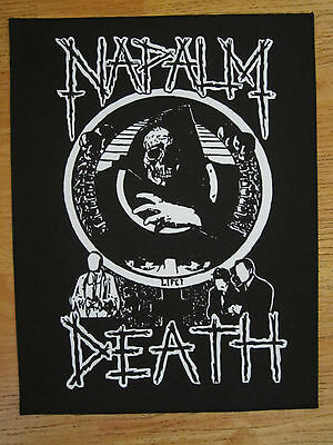 NAPALM DEATH BACK PATCH printed NEW death metal