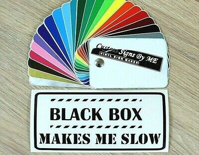 Black Box Makes Me Slow Car Van Sticker JDM Decal Window Bumper Tailgate BLACK