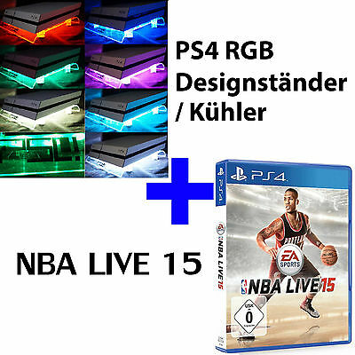 PS4 Playstation 4 Paquet jeu NBA vivre 15+ (Design Ventilateur Support debout